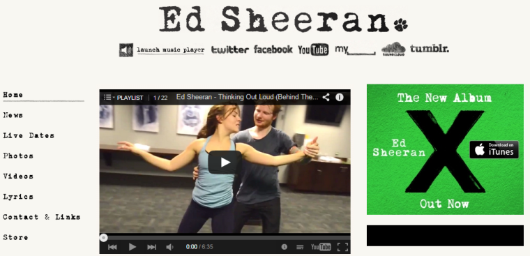 Ed Sheeran - Website