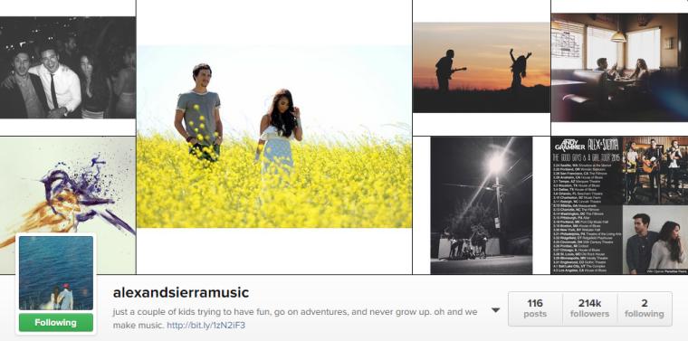 Alex and Sierra - Instagram
