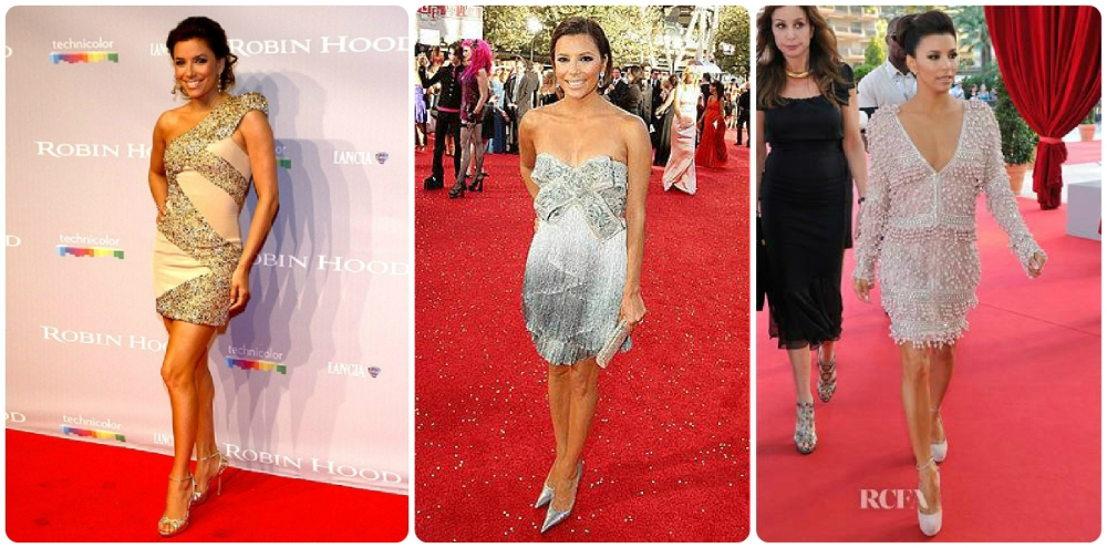 Elie Saab - 2010 Cannes Film Festival  |   Marchesa - 2008 Emmy  Awards  |  Emilio Pucci - 2012 Monaco Palace Cocktail Party