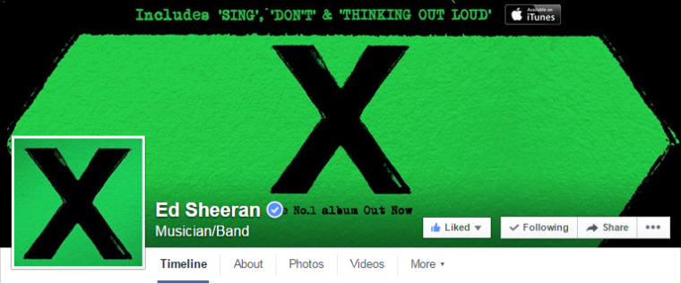 Ed Sheeran - Facebook