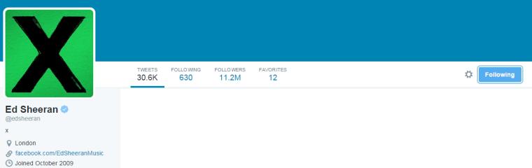Ed Sheeran - Twitter