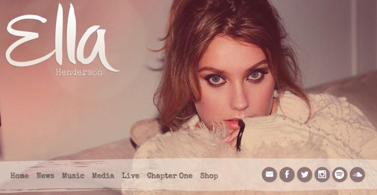 Ella Henderson - Website
