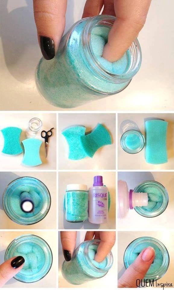 DIY - Nail Polish Remover In A Jar