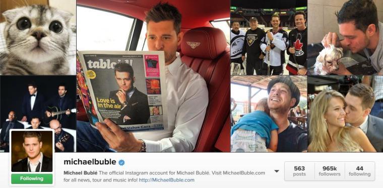 Mar - Music Mon - Michael Buble - Instagram