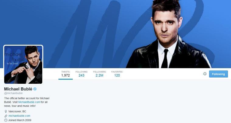 Mar - Music Mon - Michael Buble - Twitter