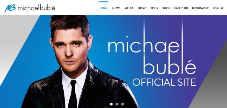 Mar - Music Mon - Michael Buble - Website