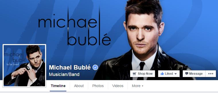 Michael Buble - Facebook
