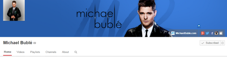 Michael Buble - Youtube