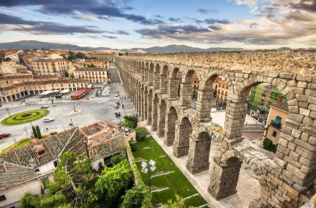 Spain - The aqueduct of Segovia-Spain