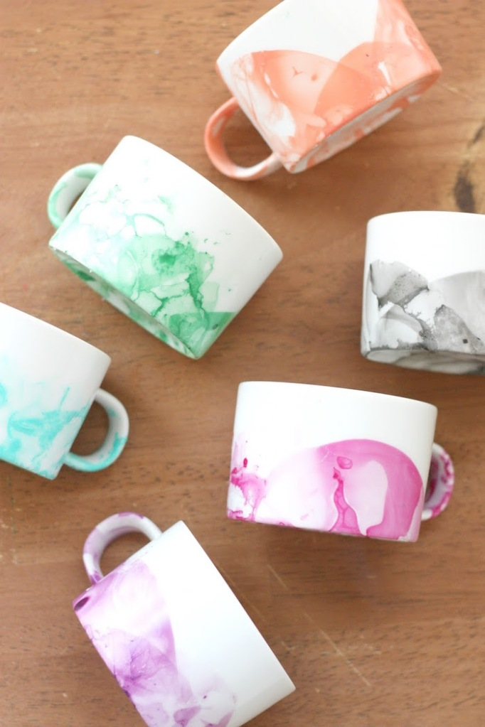 DIY Marbled Mugs 5