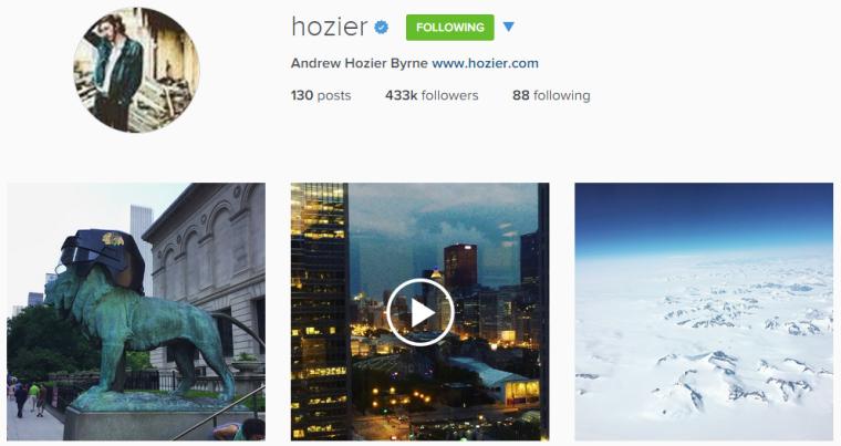 Hozier Instagram
