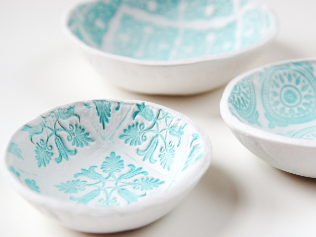 July - Try It Thurs - Stamped Clay Bowls 4