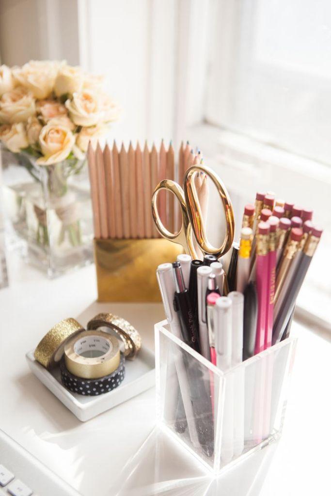 Aug - Tuesday Tips - Desk - Pencils Pens