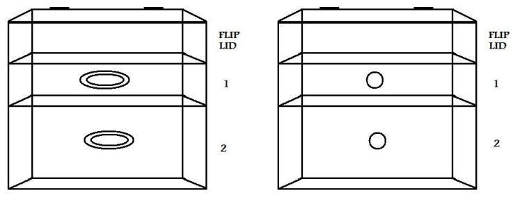 Glamcubes - 2 Drawer Organzier