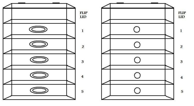 Glamcubes - 5 Drawer Organzier